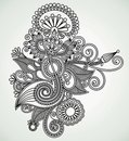 Ornate flower design Stock Images