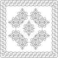Ornate frame and design elements Royalty Free Stock Image