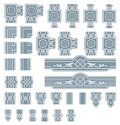 Ornate frame design elements Royalty Free Stock Photo