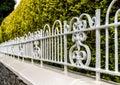 Ornate Garden Railings Royalty Free Stock Photo