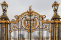 Ornate gate at buckingham palace london uk Royalty Free Stock Image