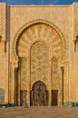 Ornate gates of a moroccan mosque arabesque design on the the hassan ii in casablanca morocco Stock Image