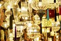 Ornate glass lamps Royalty Free Stock Photo