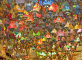 Ornate glass lights at a market stall Royalty Free Stock Images