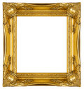Ornate Gold Frame Stock Photography