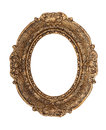 Ornate golden baroque frame isolated on the white background