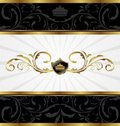 Ornate golden decorative frame Royalty Free Stock Photo