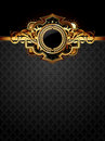 Ornate golden frame Stock Images