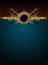 Ornate golden frame Royalty Free Stock Photo
