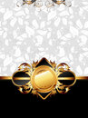Ornate golden frame Royalty Free Stock Photography