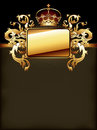 Ornate golden frame Royalty Free Stock Photo