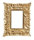 Ornate golden picture frame isolated Royalty Free Stock Photo