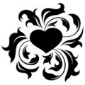 Ornate heart 2 Royalty Free Stock Photos
