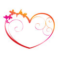 Ornate heart illustration in vector Stock Photography
