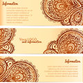 Ornate henna ornament vintage vector banners this is file of eps format Royalty Free Stock Photography