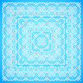 Ornate lacy blue and white vector ornament shawl Stock Photos