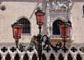 Ornate lamp by Doge Palace Stock Photos