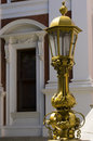 Ornate lamp at Parliament Buildings Royalty Free Stock Photo