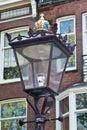 Ornate lamp post in Amsterdam