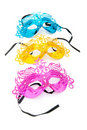 Ornate masks isolated on the white Royalty Free Stock Images