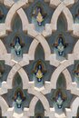 ornate masonry and tile patterns on a wall at a hassan ii mosque in casablanca Royalty Free Stock Photo