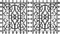 Ornate metal iron fence Royalty Free Stock Photo