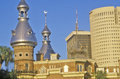 Ornate moorish architecture of the tampa bay hotel tampa florida Royalty Free Stock Photos