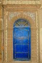 Ornate Moroccan Blue Door with Tiles