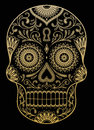 Ornate One Color Sugar Skull Royalty Free Stock Photo