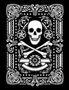Ornate pirate skull bones design Royalty Free Stock Images