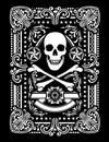 Florido pirata tarjeta diseño