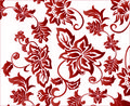 Ornate Red Flower Background Pattern Vector Stock Images