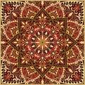 Ornate red pattern.
