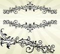 Ornate Scroll Border Stock Image