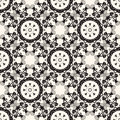 Ornate seamless floral pattern decorative wallpaper on beige background vector illustration eps high res jpg included Royalty Free Stock Image