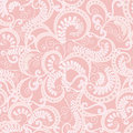 Ornate seamless pattern on pink background light with leaves Stock Photography