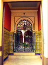 Ornate Spanish doorway Royalty Free Stock Photo