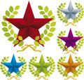 Ornate star icon Stock Photo