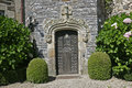 Ornate stone entrance Stock Image