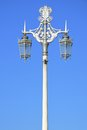 Ornate street lamps in portrait Royalty Free Stock Photo