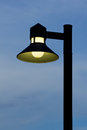 Ornate street light against a blue sky background stock photo Stock Photography