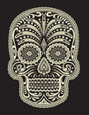 Ornate sugar skull vector of Stock Photography