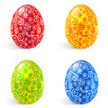 Ornate vector traditional Easter eggs set Royalty Free Stock Photo