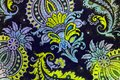 Unusual botanic paisley pattern.