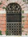 Ornate Victorian English iron gate Royalty Free Stock Photo