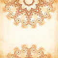 Ornate vintage circle pattern in mehndi style vector seamless Stock Images