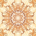 Ornate vintage circle pattern in mehndi style vector seamless Royalty Free Stock Photo