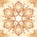 Ornate vintage circle pattern in mehndi style vector seamless Royalty Free Stock Photography