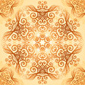 Ornate vintage circle pattern in mehndi style vector seamless Stock Photo