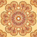 Ornate vintage circle pattern in mehndi style vector seamless Stock Photography